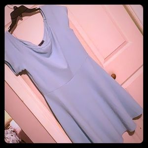 Simple and sweet light blue dress